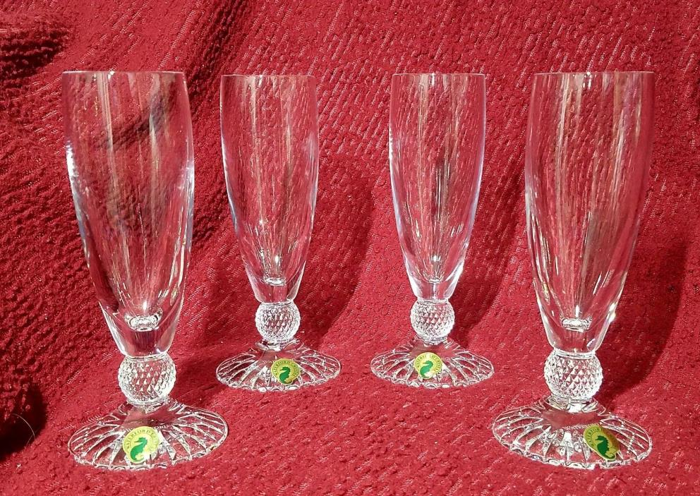 Waterford Town & Country Riverside Drive Flute Crystal Champagne Glass set of 4