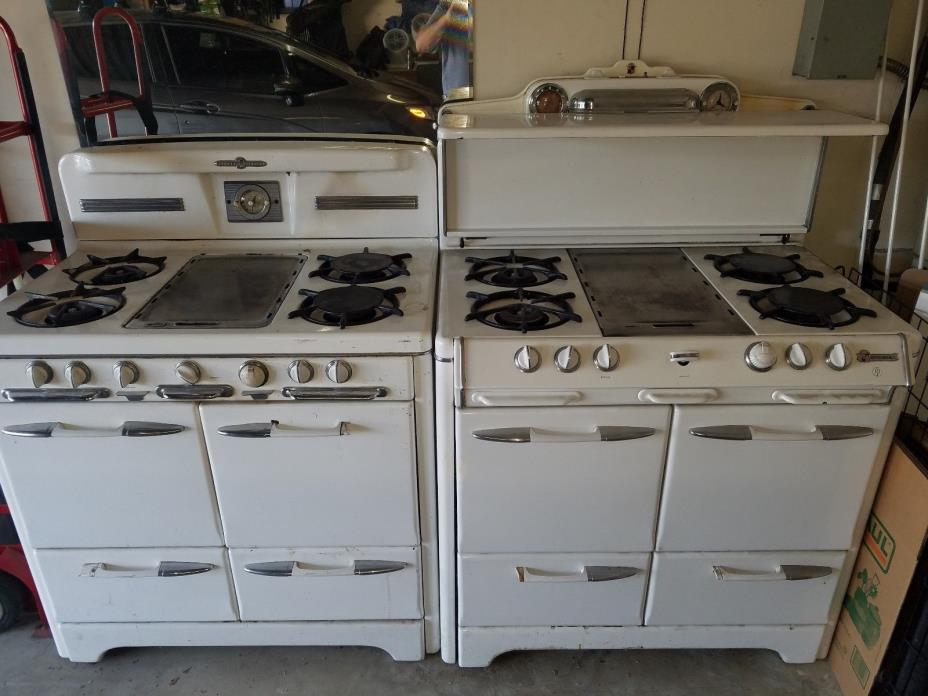 Two Antique Gas Stoves for Sale