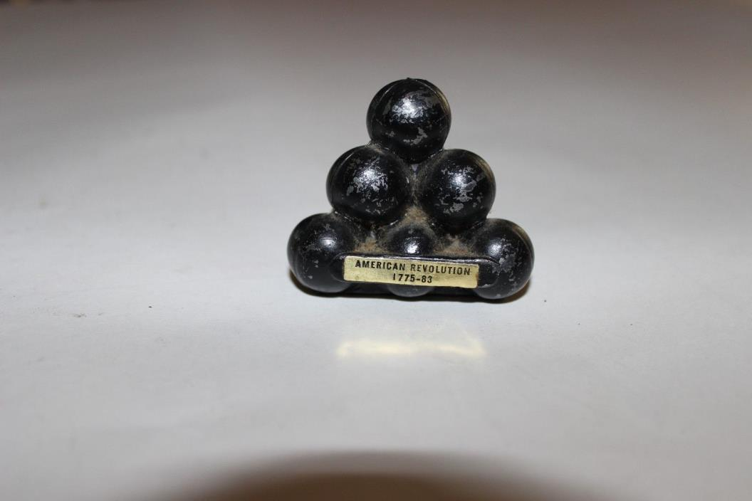 Vintage Cast Iron Penncraft Miniature Cannon Balls  American Revaluation