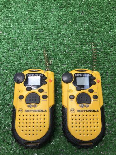 1 Pair Motorola Talkabout Plus FRS two way radios/walkie talkies- 250 minus scan