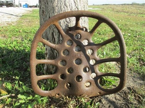 Cast Iron Tractor Seat Country Farm Implement Sign Planter Fits John Deere a27