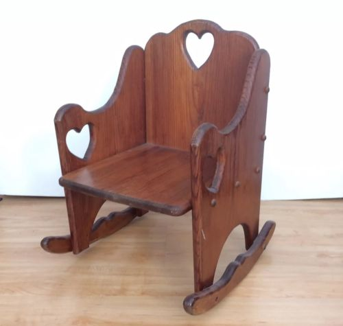 VINTAGE Wooden child rocking chair