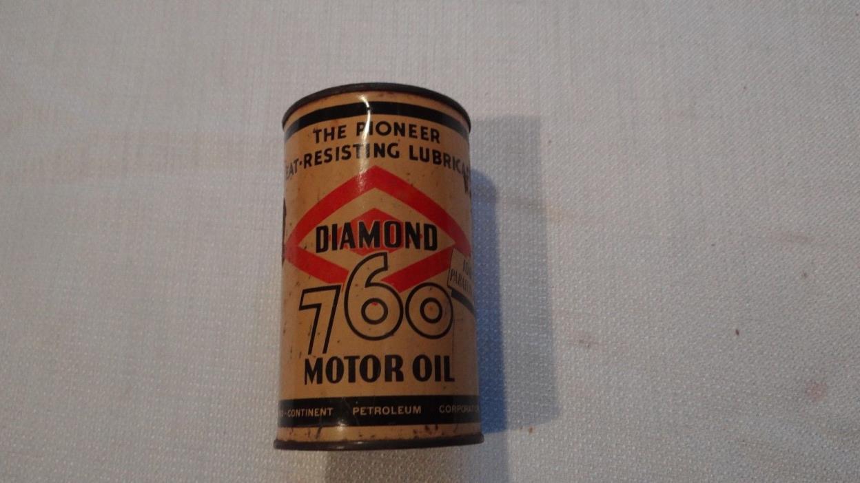 RARE Vintage Motor Oil Can Diamond 760 Coin Bank FREE SHIPPING