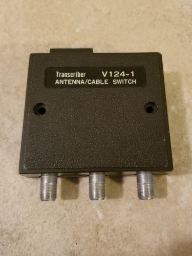 Transcriber antenna cable switch A&B Model V124-1 TV