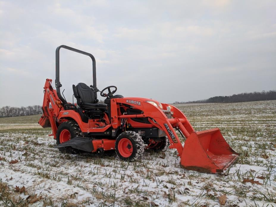 2013 Kubota BX25D Compact Tractor Loader Backhoe Mower 4x4 Diesel 23 Horsepower
