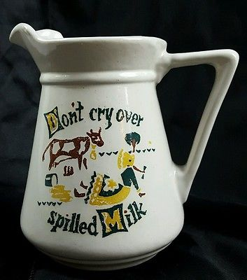 Vintage Milk Pitcher - The American DaIry Association of Wisconsin - Made in USA