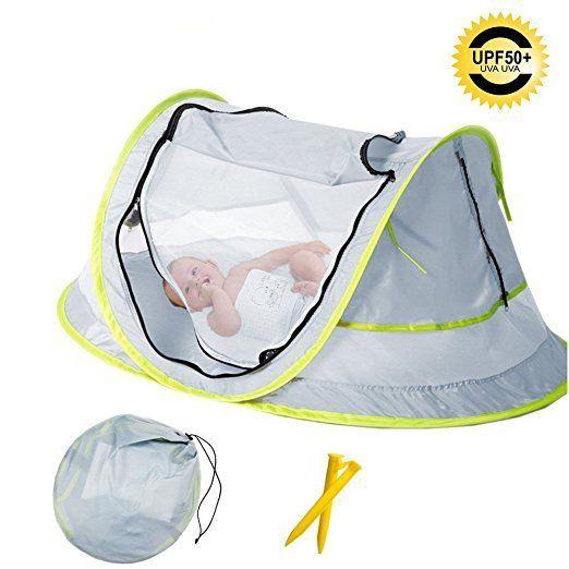 Carpa Para Bebé Mosquitero Portátil Parasol UPF 50 Ligera Nylon Respirable