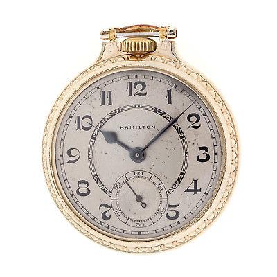 Hamilton 992B Railroad Gold Filled 21 Jewel Pocket Watch