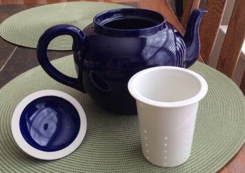 Cobalt Royal Blue  Ceramic Tea Pot w/ Removable ceramamic Strainer Quality Item