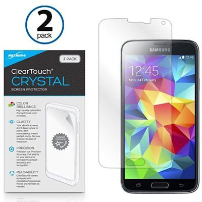 Screen Protectors Galaxy S5 Protector, BoxWave ClearTouch Crystal (2-Pack) HD