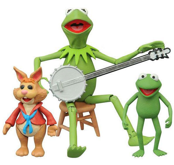 The Muppets: Kermit, Bean & Robin Series 1 Action Figure Set     New In Package!