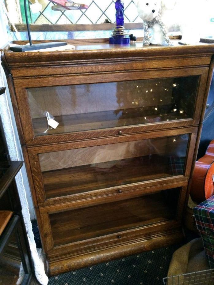 Quarter Sawn Oak 3 Stack Barrister Bookcase