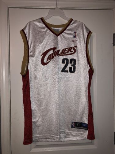Cleveland Cavaliers #23 Lebron James Jersey XL Sewn White