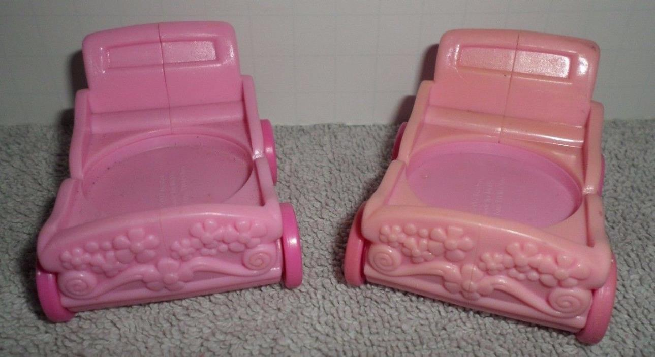 My Little Pony Baby Carriage Stroller Pink Mcdonalds Set of 2
