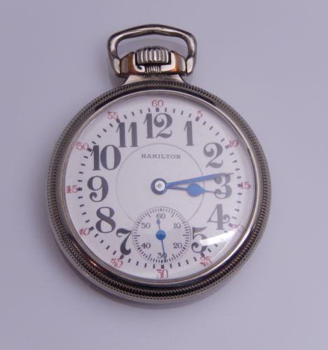 Hamilton 1923 Grade 992 16s 21j 14k White Gold Filled Railroad Pocket Watch