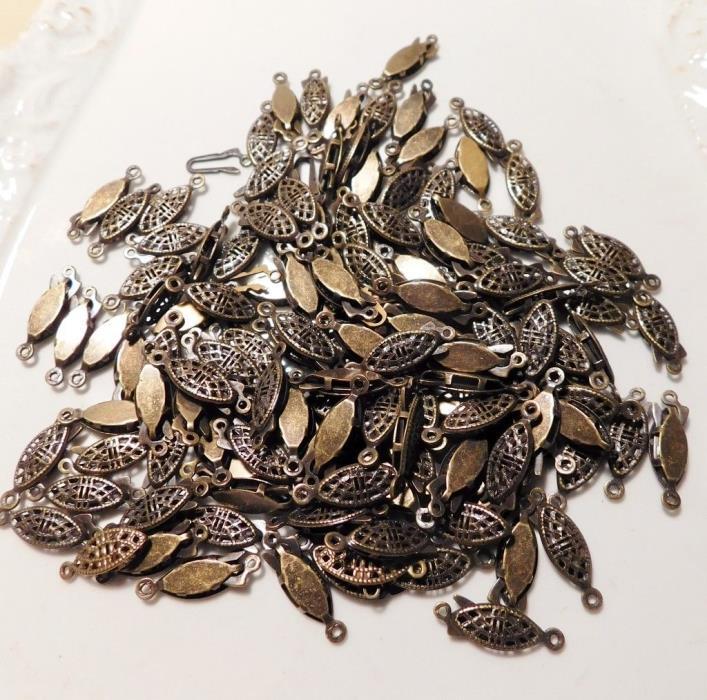 Vintage Lot of 125 Ox Brass Fashion Necklace Bracelet Clasps