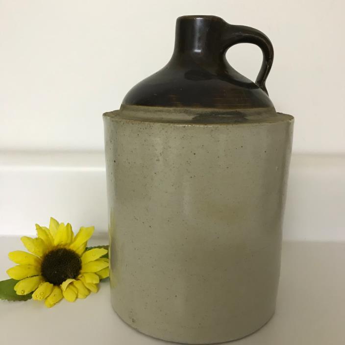 Antique Vtg Stoneware Whiskey Jug Crock Primitive Moonshine 8 1/2