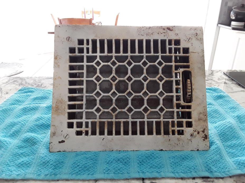 Antique Cast Iron Heat Grate/Vent Register Honeycomb Style