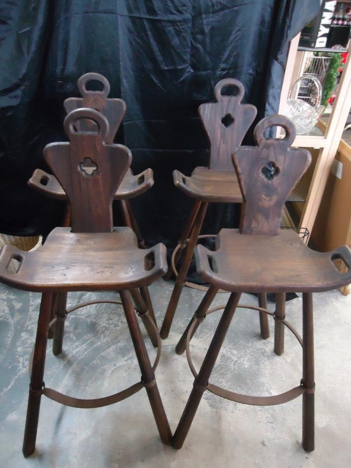 ANTIQUE BIRTHING CHAIR / BAR STOOLS