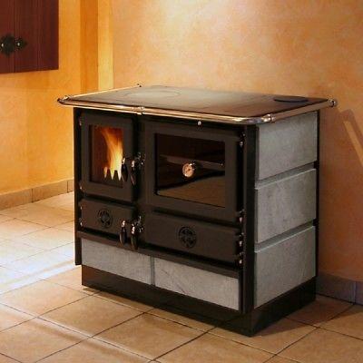 Wood/Coal Burning Cook Stove SoapStone/Left flue