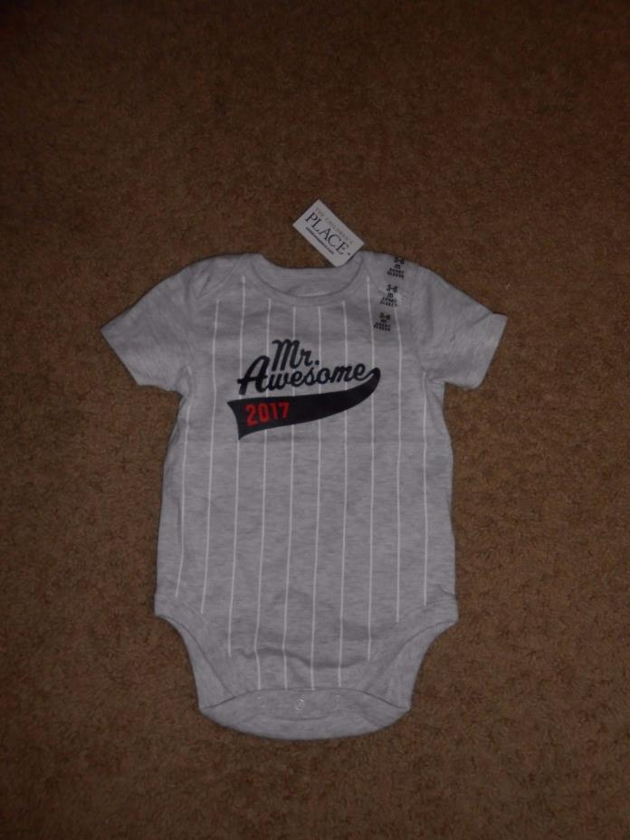 Mr Awesome 2017    design  ONSEY   SIZE  6-9 months