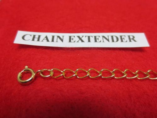 12 INCH 14 KT GOLD PLATED 4MM NECKLACE EXTENDER WITH SPRING RING CLASP