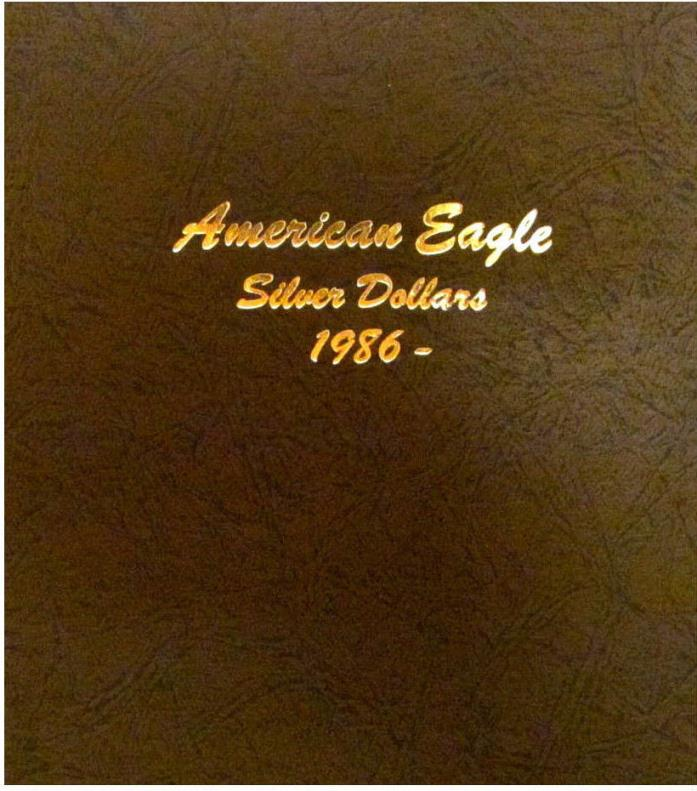 New DANSCO AMERICAN EAGLE SILVER DOLLARS 1986 -2021 Album Coin Folder Book#7181