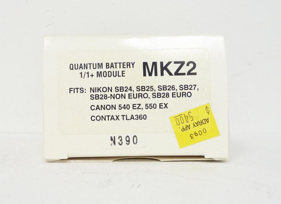 Quantum MKZ2 Module - Battery 1 to Nikon SB24-28, Canon 540EZ, Canon 550EX