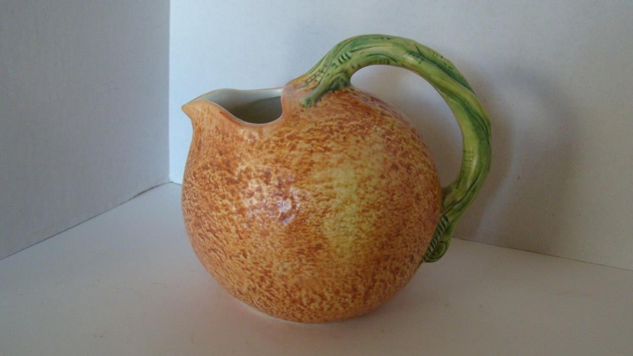 Orange Shaped 60 Ounce Juice Pitcher Made In Italy
