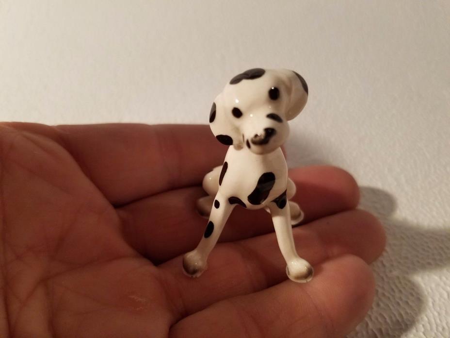 Antique Small Porcelain Figure - DALMATION Vintage