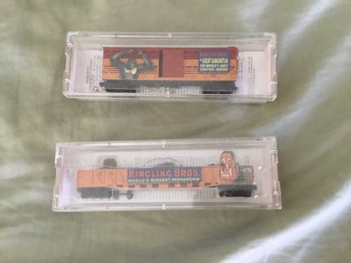 n scale Ringling Brothers cars