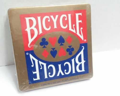 Bicycle Drink Coasters Chipboard & Cork 2000 United States Playing Card Co. NEW