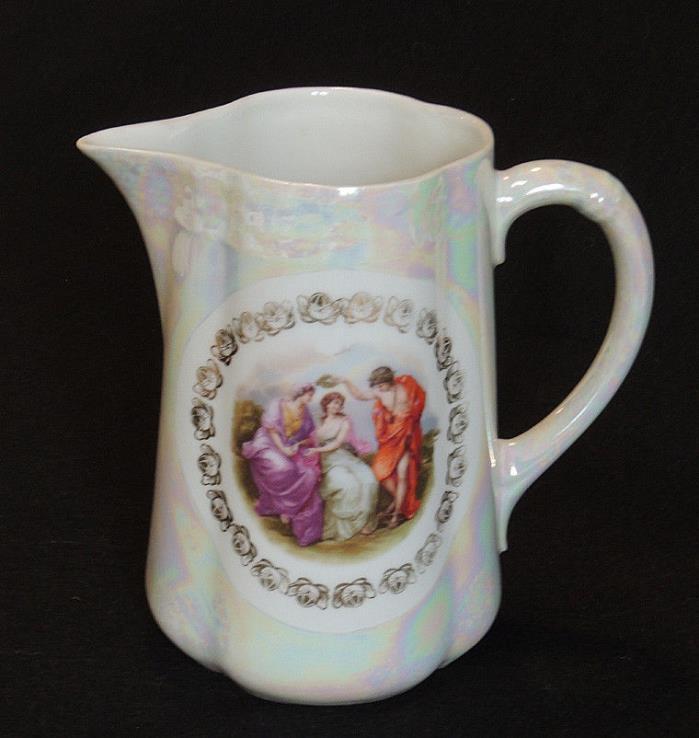 Gorgeous Antique Porcelain Portrait 7.5
