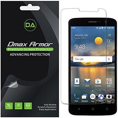 Screen Protectors 6-Pack Dmax Armor ZTE Blade Spark Protector, Anti-Bubble High