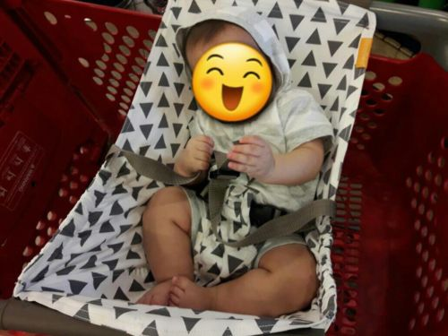 Binxy Baby Shopping Cart Hammock - Triangles