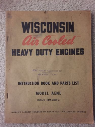 VINTAGE WISCONSIN MODEL AENL AIR COOLED ENGINE IPL BROCHURE