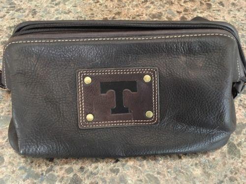 Jack Mason Tennessee Volunteers  Brown Leather Travel Kit Bag New