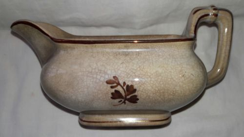 RARE ANTIQUE TEA LEAF LARGE CREAMER OR GRAVY BOAT FURNIVAL & SONS ENGLAND