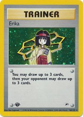 Erika - 16/132 - Holo 1st Edition Near Mint Gym Heroes Pokemon