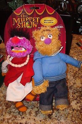 NEW The Muppet Show RARE ANIMAL and FOZZIE Mayhem Plush 2003