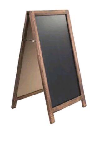 Dwellbee Wood Framed Sidewalk Chalkboard Easel Mango Wood Dark Brown