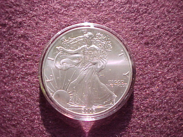 Genuine  AIR-TITE  Coin Holders fit 1oz American Silver Eagle Coins  ~  Airtite