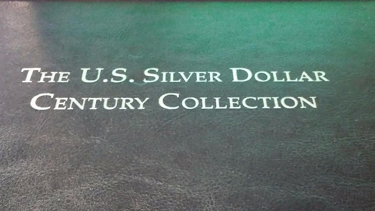 PCS STAMPS AND COIN WOODEN STORAGE U.S. SILVER DOLLAR CENTURY COLLECTION BOX (on