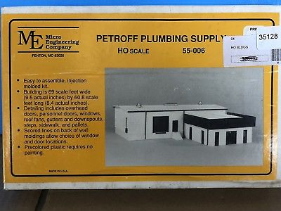 MICRO ENGINEERING HO 55-006  PETROFF PLUMBING SUPPLY BUILDING KIT