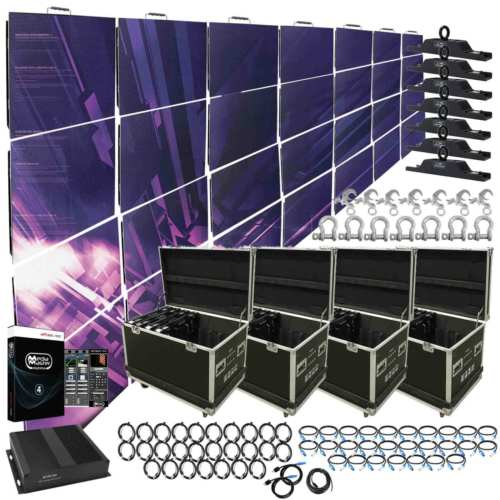 American DJ AV3 High Resolution 3.91mm LED Video Wall 7x4 Complete System