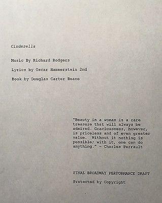 CINDERELLA - Playscript for Broadway Version 2013 - Unbound Cast Member Copy