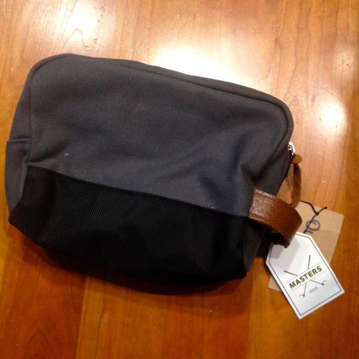 Owen And Fred Masters Mens Travel Kit Toiletry Bag gray Canvas leather New!