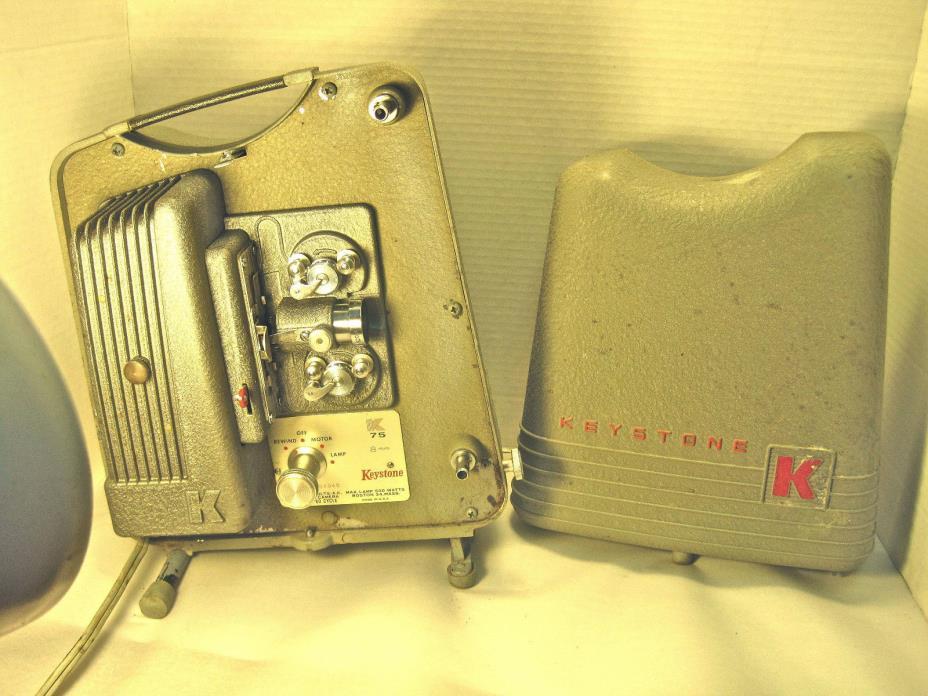 vintage 8mm projector, portable, Keystone, K 75, working order.