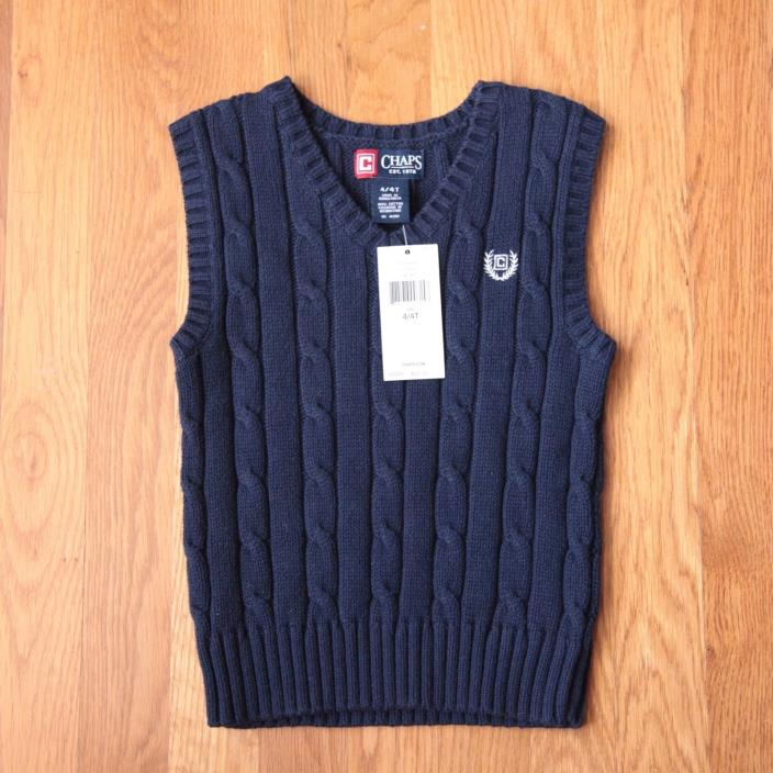 Chaps Ralph Lauren Sweater Vest | 4T | NWT!