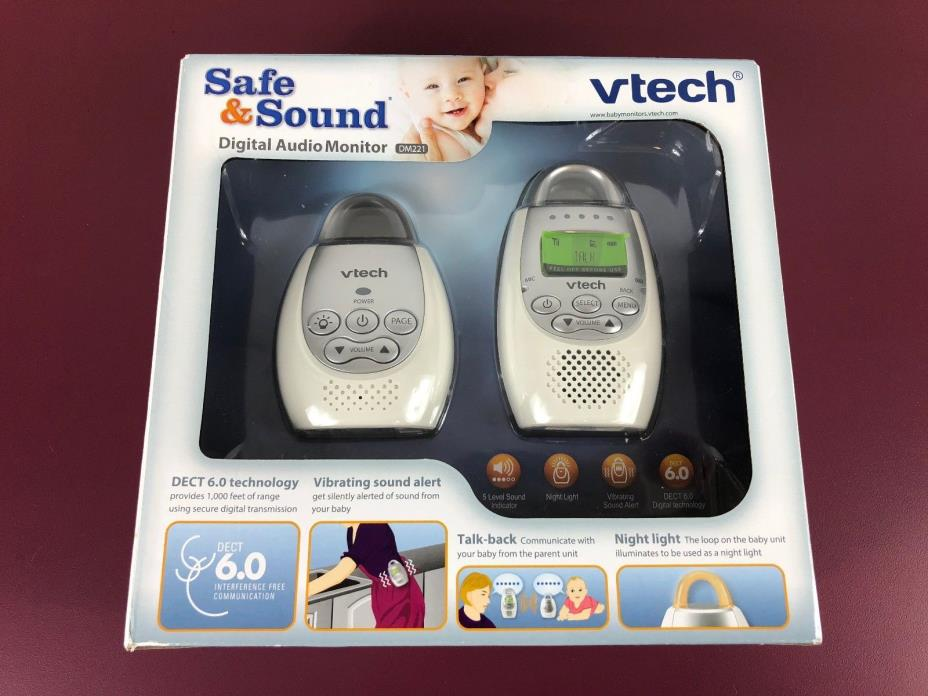 NEW VTech DM221-2 Safe & Sound Digital Audio Baby Monitor with Two Parent Units